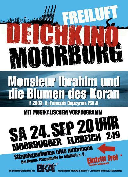 Plakat für das Deichkino am 24.09.2016