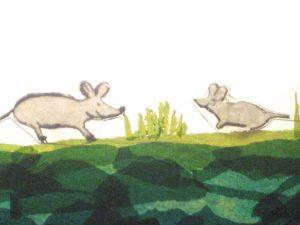 selstgemaltes Bild: Der Mäuserich und seine Tochter