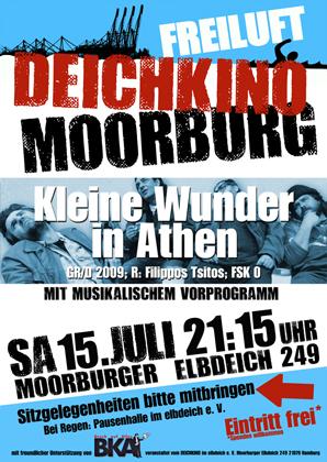 """Plakat zum Deichkino """"Kleine Wunder in Athen"""""""