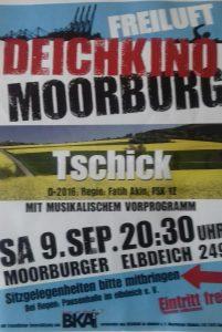 """Plakat zum Deichkino """"Tschick"""" am 09.09.17"""
