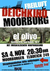 "Plakat zum Deichkino am 4.11.17 ""El Olivo"""