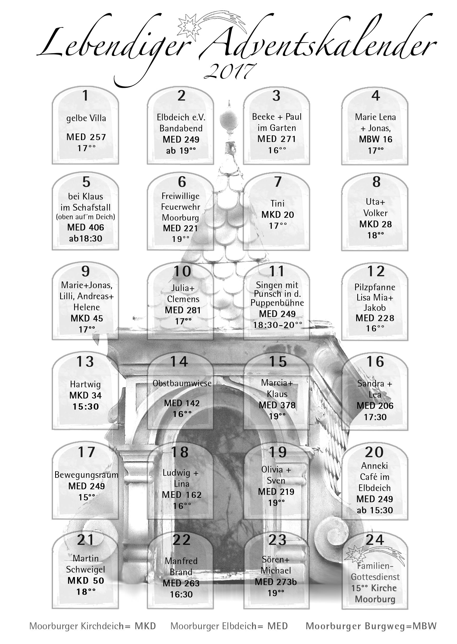 Der lebendige Adventskalender 2017